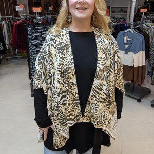 Animal Print Sweater Wrap